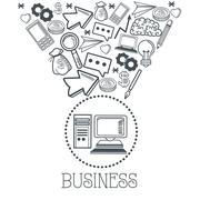 Doodle icon design. business icon. draw concept - stock illustration