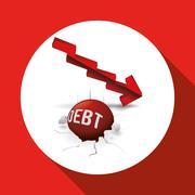 Profit design. Business icon. White background , vector - stock illustration