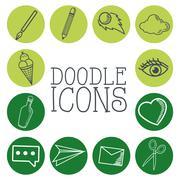 Doodle icon design. cartoon icon. draw concept - stock illustration