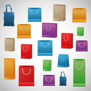 Shopping design. Shopping bag icon. sale concept - stock illustration