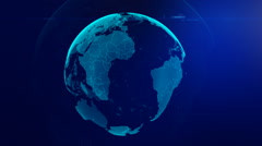 Spinning Globe in Space Stock Footage