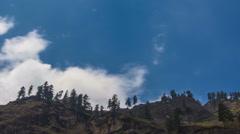 Forest and Sky - Manaslu Trek, Nepal - stock footage