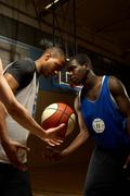 Basketball players had to head Stock Photos