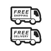 Delivery and shipping truck Stock Illustration
