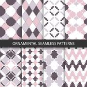 Delicate ornamental patterns - seamless. - stock illustration