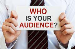 Who is your audience - stock photo