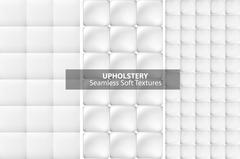 White upholstery textures. Seamless. Stock Illustration