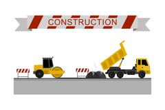 Construction machines icons. Piirros