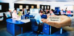 Customer support center - stock photo