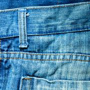 blue denim jeans texture, background - stock photo