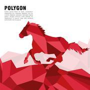 Animal design. Polygon concept. Shape and Origami icon, vector illustration - stock illustration