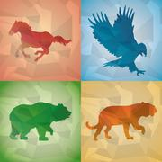 Animal design. Polygon concept. Shape and Origami icon, vector illustration - stock illustration