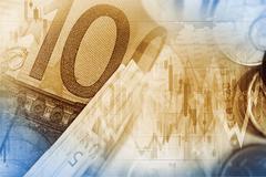 Currency Exchange Illustration. Euro Money Trading. Stock Illustration