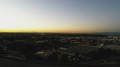 Overlooking North Long Beach California From Signal Hill- Dusk Stock Footage