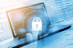 Safe Website Concept. Coding Safe Website. Programming and Coding Concept. Stock Illustration