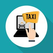 Taxi design. Transportation icon. Isolated illustration - stock illustration