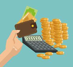 Money design. financial item. Flat illustration, editable vector Stock Illustration