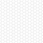 Hexagon geometric pattern - seamless. - stock illustration