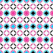 Colorful ornamental pattern - seamless. - stock illustration