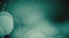 Digital data cyber security motion graphic - stock footage