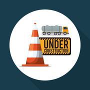 Under construction design. supplies icon. road sign illustration Stock Illustration