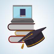 Education design. learning icon. isolated illustration , vector Stock Illustration