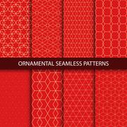 Collection of luxury seamless ornamental patterns. - stock illustration
