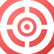 Target closeup red vector background. - stock illustration