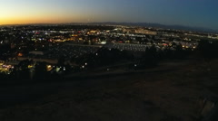 Tilt Los Angeles Basin City Lights At Dusk From Signal Hill Stock Footage