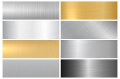 Metal bright textures. Stock Illustration