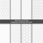 Geometric ornamental patterns. - stock illustration