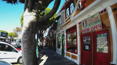 Colorful Shops On Main Street Downtown Seal Beach CA Stock Footage