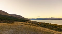 Aoraki Mount Cook Viewed From  Scenic Peters Lookout, Wide Angle Pan Right Stock Footage