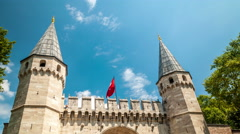 Istanbul. Gate of Salutation. Topkapi palace gate. Vertical pan Stock Footage