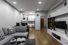 Spacious and modern apartment - stock photo