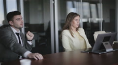 Businessman and his partner in the negotiations. Stock Footage