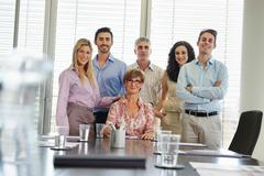 Group portrait of business people - stock photo