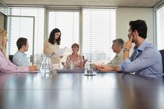 Group of people in conference meeting - stock photo