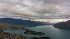 Queenstown Gondola Hills Scenic View, Time Lapse Stock Footage
