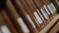 Cool close-up of a group of cigars Stock Footage