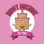 Happy Birthday design , vector illustration Stock Illustration