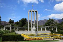 Huguenot memorial in franschhoek, south africa Stock Photos