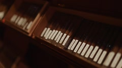 Cool shot of boxes of cigars in a room - stock footage