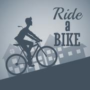 Ride a bike design , vector illustration - stock illustration