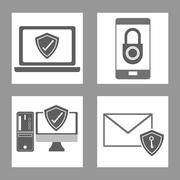 Cyber Security design , vector illustration - stock illustration