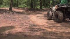 ATV riding in the forest - stock footage