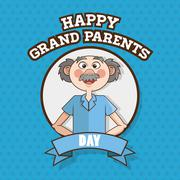 Grandparents design, vector illustration, vector illustration - stock illustration