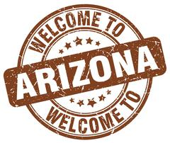 Welcome to Arizona brown round vintage stamp Piirros