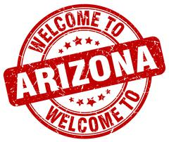 Welcome to Arizona red round vintage stamp Piirros