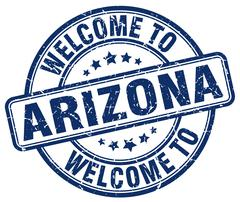 Welcome to Arizona blue round vintage stamp Piirros